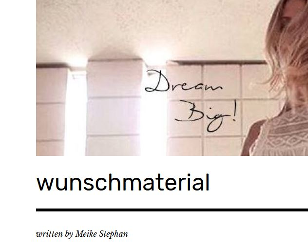 Screenshot Wunschmaterial